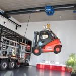 3G-Kompetenzzentrum und Eventlocation Experiment mit Stapler