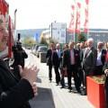 Impression auf der Lasi-Expo von 3G in 2012 - Besucher im Außenbereich