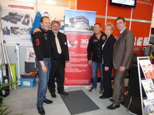 Toto & Harry, Marotech-Marketingleiterin Christine Kraus, Vertriebsleiter Christian Uhl und Bodo Scheuten