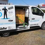 Korrekte Ladungssicherung in einem Kleintransporter
