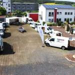 Übersicht verschiedener Fahrzeuge auf dem Gelände des 3G-Kompetenzzentrum