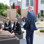 Erfahrungsaustausch im Außenbereich des 3G-Kompetenzzentrum